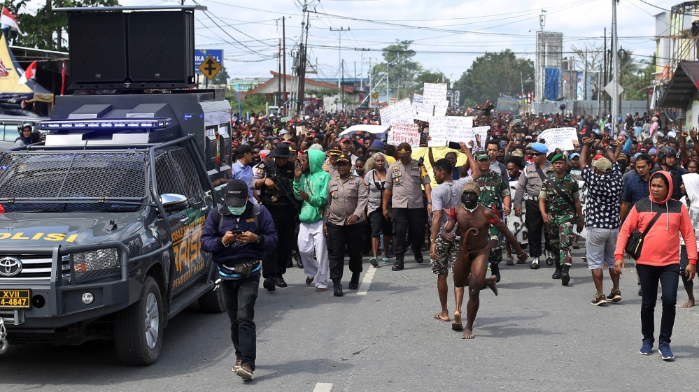 Timika protests - Indonesia