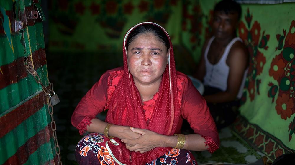 Farhana Begum said she fears her family will be killed if they return to Myanmar [Mahmud Hossain Opu/Al Jazeera]
