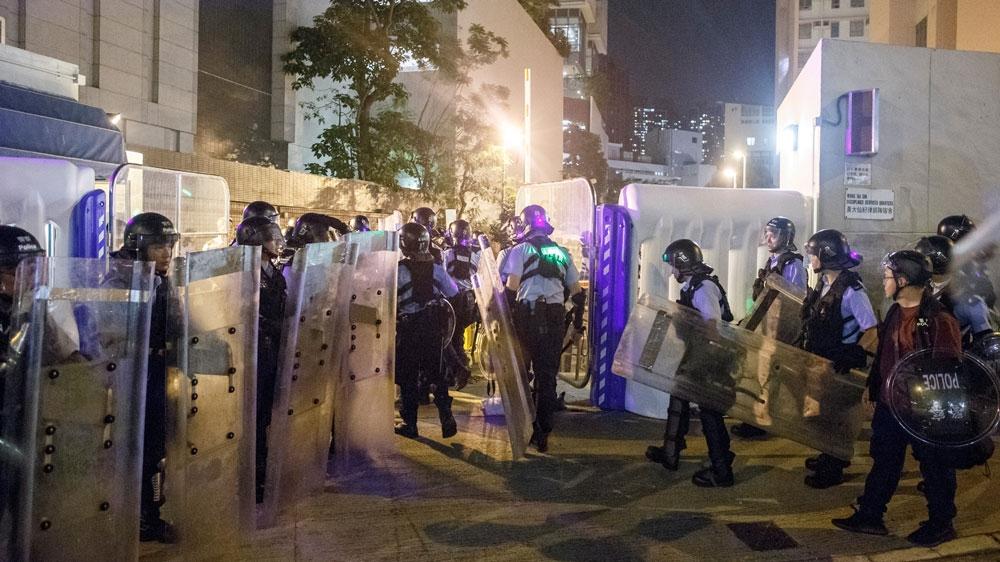 Hong Kong leader warns of economic 'tsunami' if protests continue | News | Al Jazeera