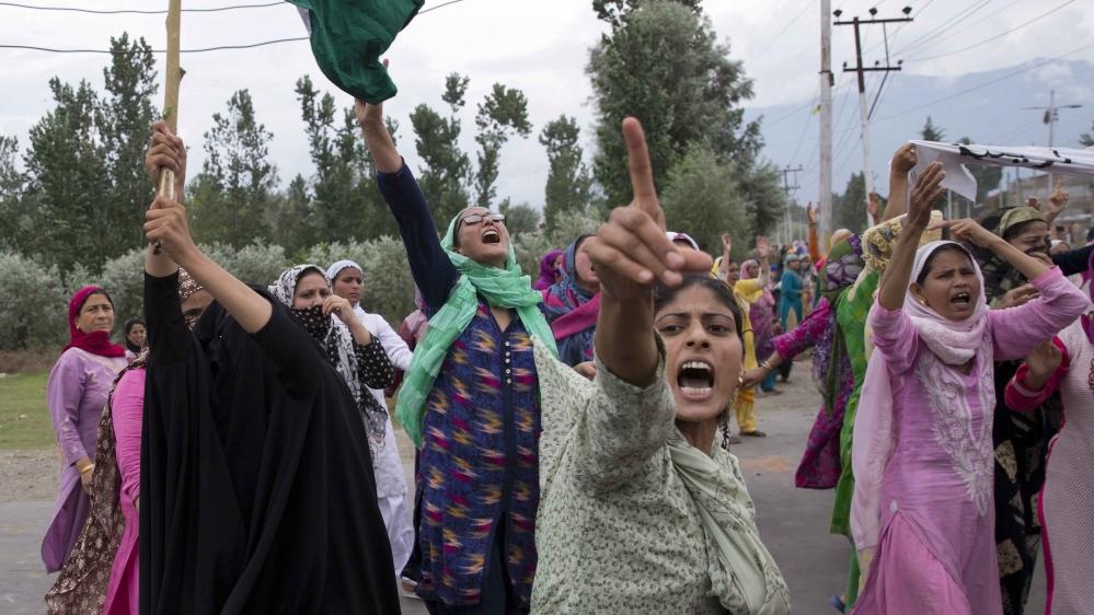 Kashmir protest Srinagar