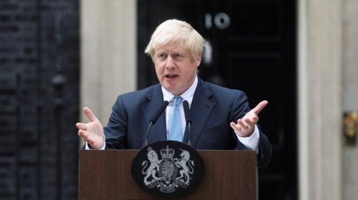 Britain's Prime Minister Boris Johnson addresses the media outside Downing Street in London, Britain, September 2, 2019