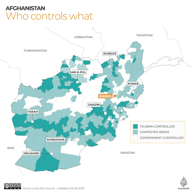 INTERACTIVE: Afghanistan control map Feb 29 2020