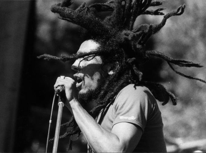 Jamaican reggae star Bob Marley