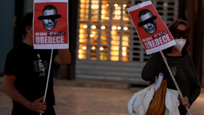 Spanish protest - reuters
