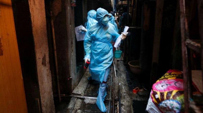 Healthcare workers in Mumbai, India