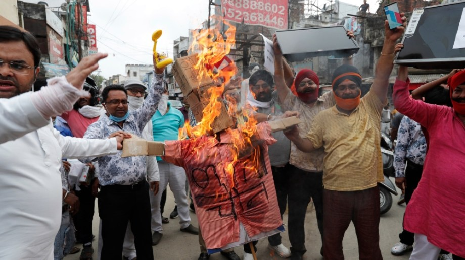 インドの抗議