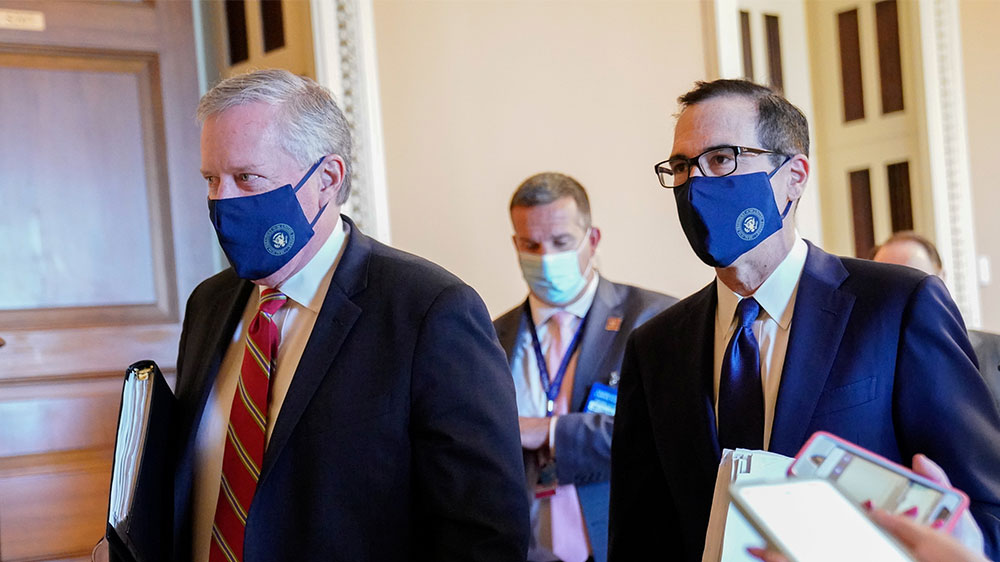 Mnuchin and Meadows on Capitol Hill