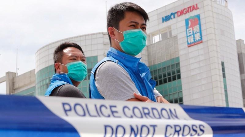 ہانگ کانگ ایپل ڈیلی کا چھاپہ