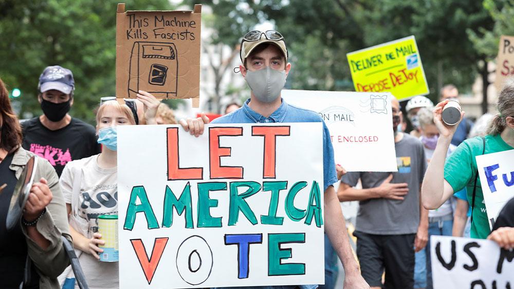 یو ایس پی ایس کا احتجاج