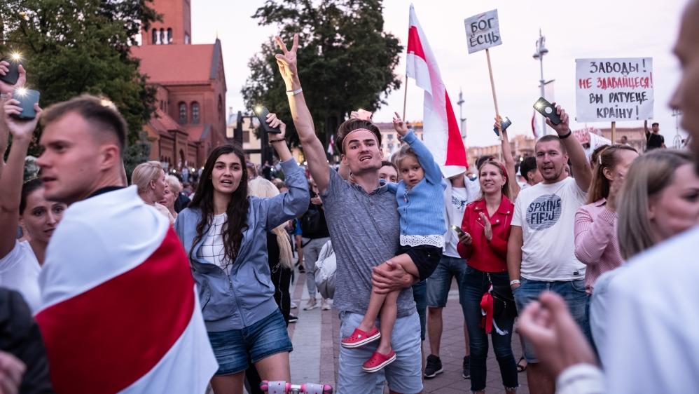 بیلاروس کے مظاہرین اتحاد کو وسیع کرنے کے خواہاں ہیں