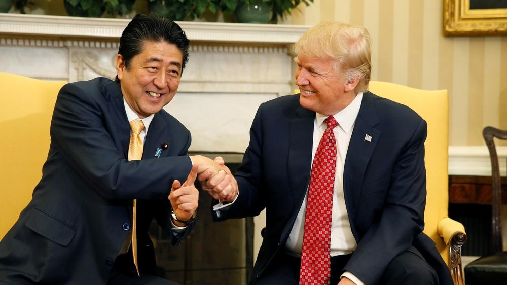 جاپان آبے ٹرمپ