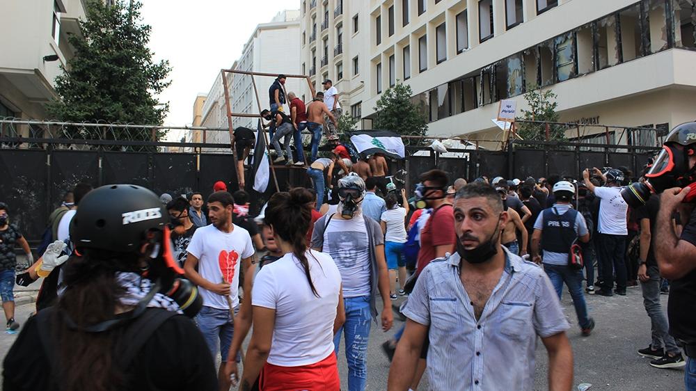 بیروت کا احتجاج [Arwa Ibrahim/Al Jazeera]