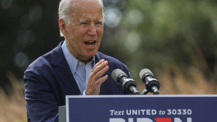 Joe Biden speaks on climate fires