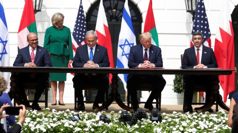 Deal signing israel uae bahrain white house