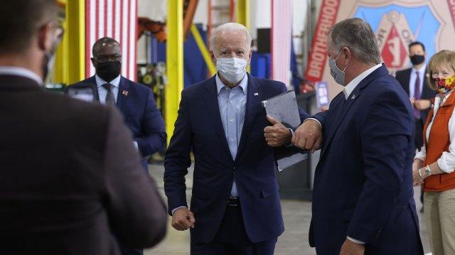 Joe Biden at carpenters union hall Duluth Minn