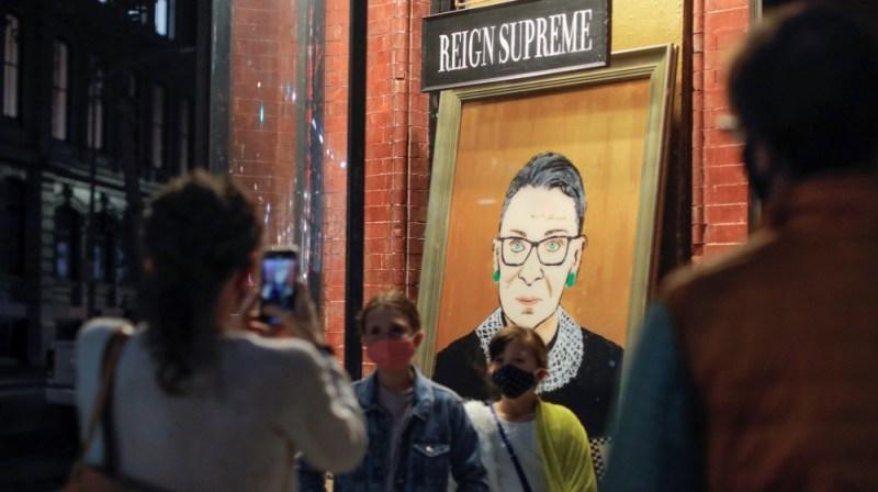 Ruth Bader Ginsburg painting NY