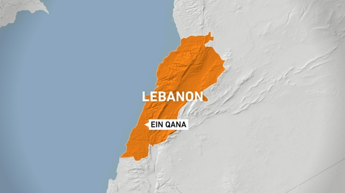 southern village of Ein Qana Lebanon