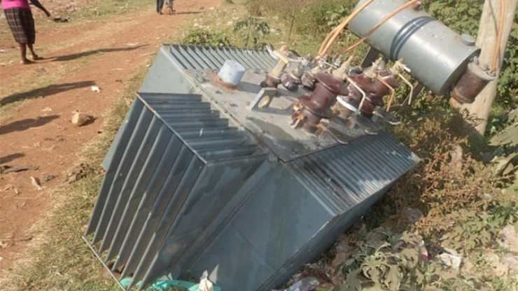 Image result for pictures of stolen transformers in Nigeria