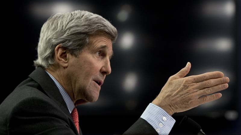 Kerry advised waiting to hear what Netanyahu had to say in next Tuesday's speech to the US Congress [AP]