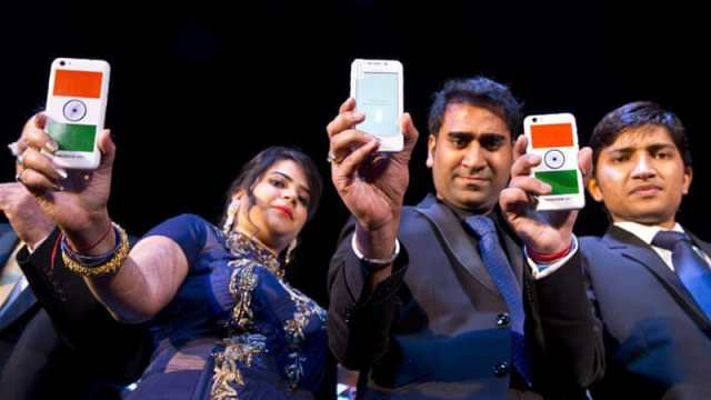 India's smartphone phone market is one of the fastest-growing in the region [AP]