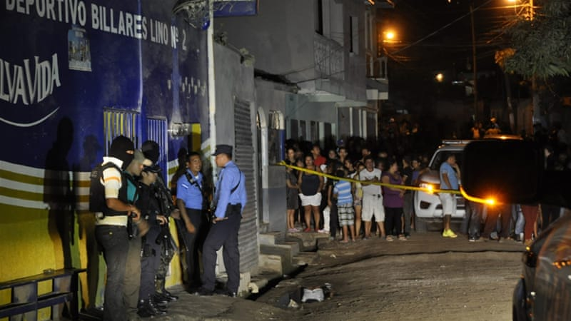 There are 16 homicides on average in Honduras every day, mostly due to drug cartels [AFP]