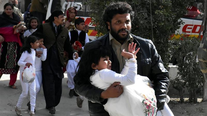 Gunmen attacked the Bethel Memorial Methodist Church in Quetta on Sunday [Naseer Ahmed/Reuters]