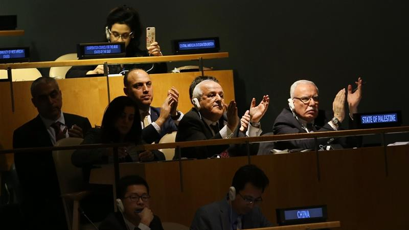 The non-binding measure passed at a UN General Assembly emergency meeting on Thursday with 128 votes in favour [AFP]
