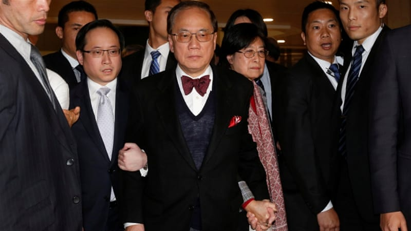 Tsang escaped a bribery charge but could face seven years in prison over corruption [Reuters]