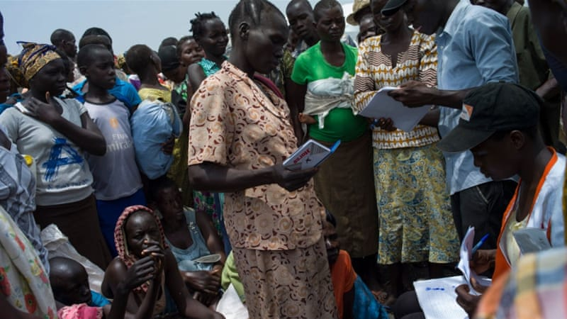 More than 800,000 South Sudanese refugees have arrived in Uganda since 2013 [Dan Kitwood/Getty Images]