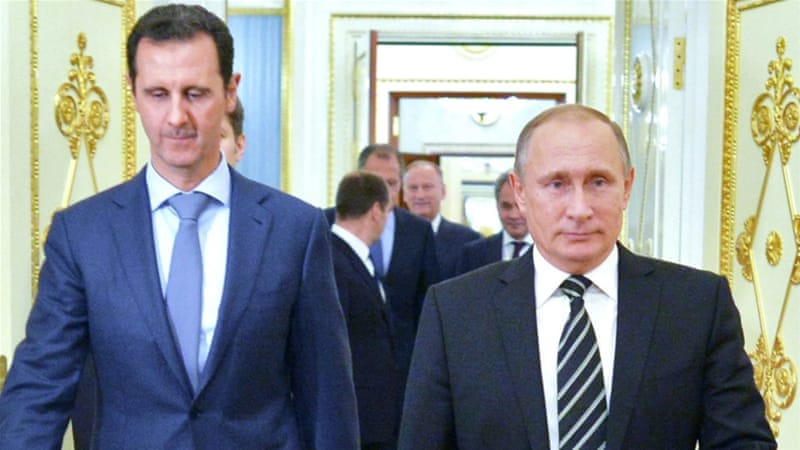 Putin, right, has been the closest ally of Syria's Assad throughout the war [[EPA/RIA NOVOSTI]
