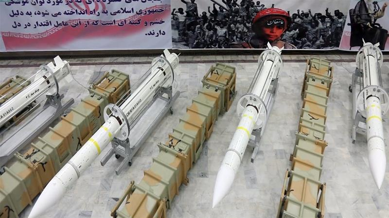 The Sayyad 3 missile can reach an altitude of 27km and travel up to 120km [Iran''s defence ministry website handout/EPA]