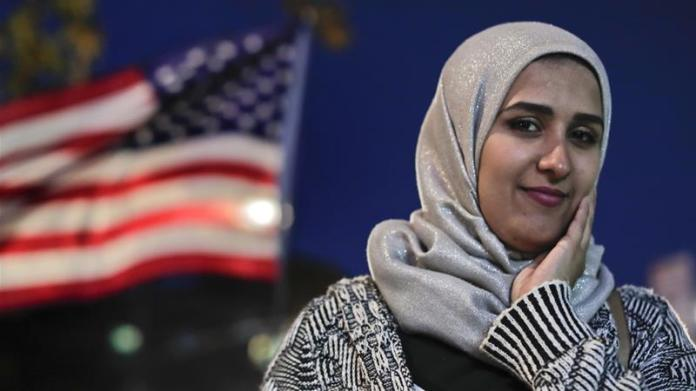 About 3.45 million Muslims were living in the US in 2017, representing 1.1 percent of the population [Julie Jacobson/AP]