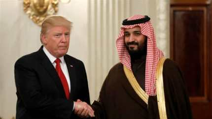 Trump has been openly supportive of Mohammed bin Salman during his anti-corruption crackdown in Saudi Arabia [Kevin Lamarque/Reuters]