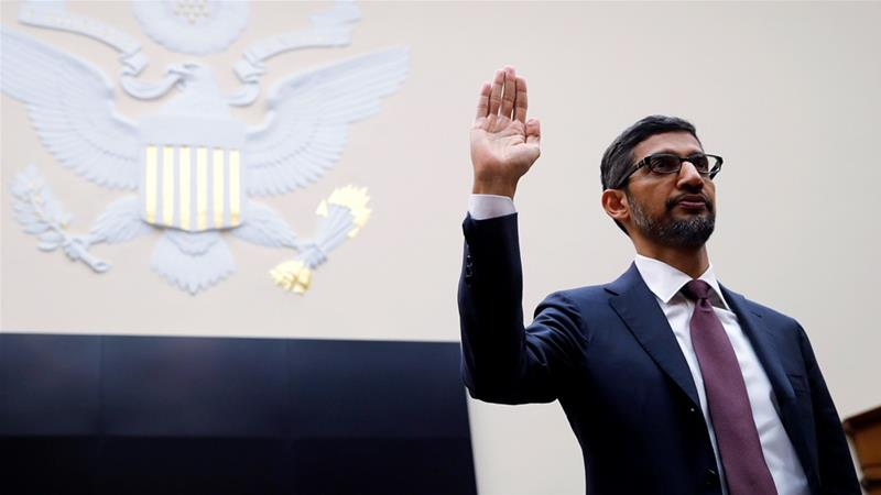 Google CEO Pichai testifies at House Judiciary Committee hearing on Capitol Hill in Washington [Jim Young/Reuters]