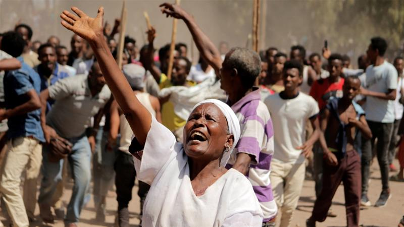 What triggered unrest in Ethiopia?