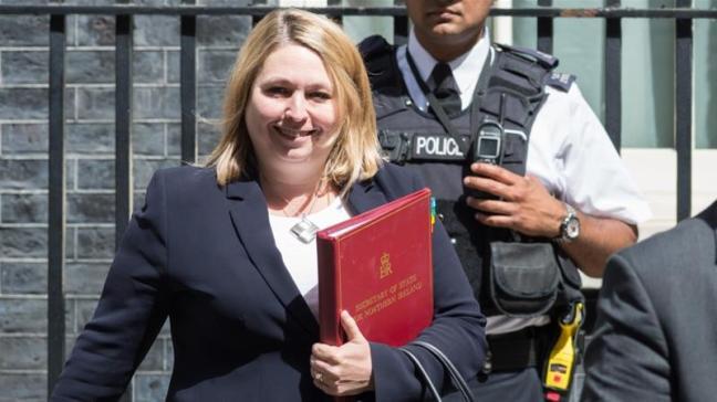 Karen Bradley was named secretary of state for Northern Ireland in January [File: Wiktor Szymanowicz/Barcroft Media via Getty Images]
