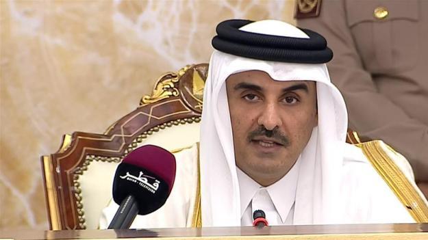 Sheikh Tamim bin Hamad Al Thani addressed a session of the Shura Council [Al Jazeera]
