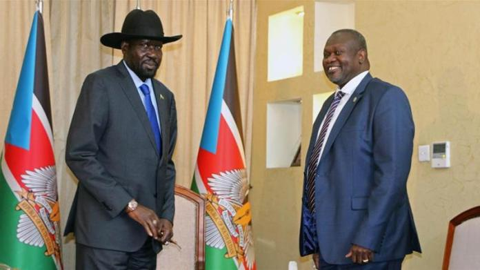 Kiir, left, and Machar, right, are old rivals who have fought and made up multiple times [File: Jok Solomun/Reuters]
