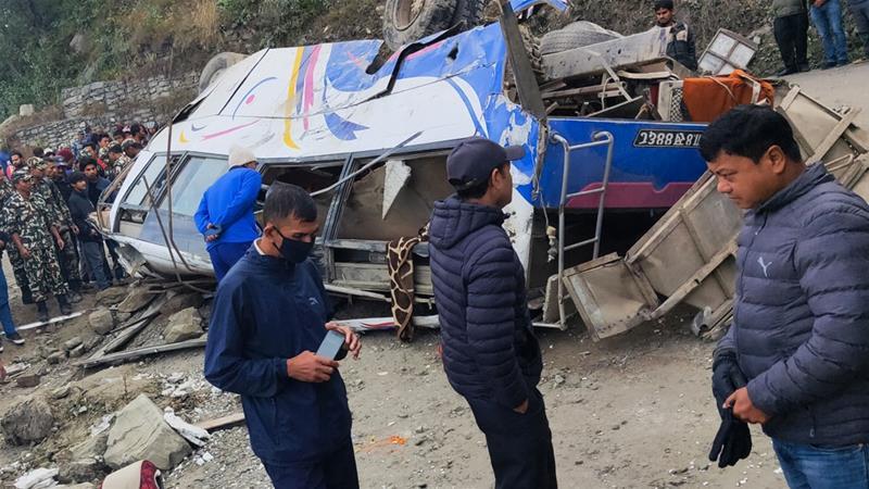 Many killed in Nepal pilgrimage bus crash | News | Al Jazeera