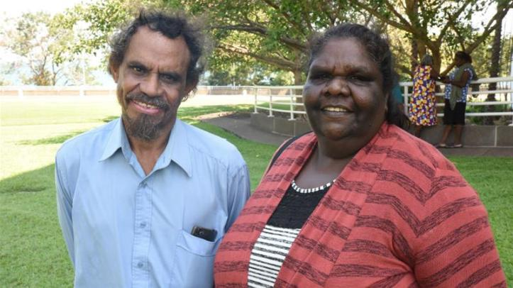 Chris Griffiths and Lorraine Jones were two of the plaintiffs who brought the case to court [Northern Land Council]