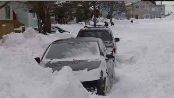 The record-breaking storm dumped up to 76cm (30 inches) of snow on St John's, the capital of Newfoundland on Friday [Al Jazeera]