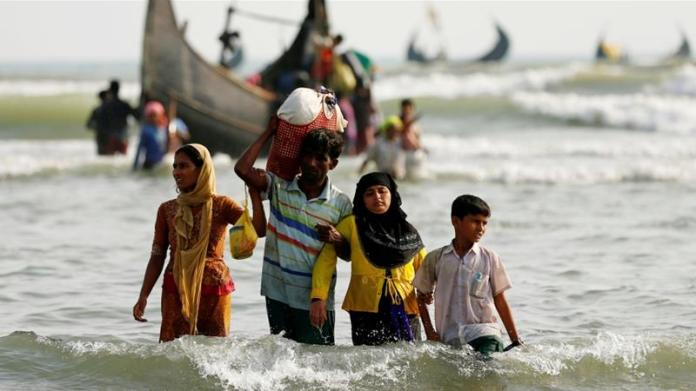 Authorities said the 29 Rohingya were relocated to the controversial Bhasan Char island to prevent coronavirus outbreak in the refugee camps [Mohammad Ponir Hossain/Reuters]