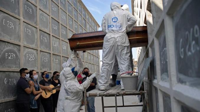 Coronavirus surge in Brazil brings coffin shortage, morgue chaos ...