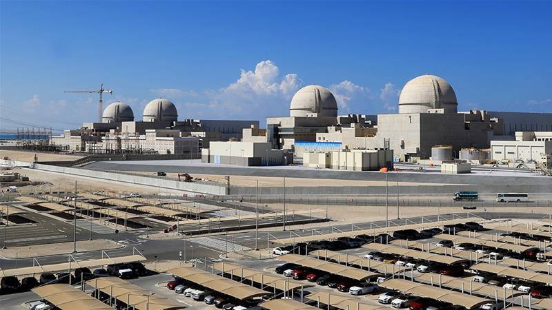 UAEは3月に、アラビア半島で最初のバラカ原子力発電所の4つの真新しい原子炉の1つへの燃料棒の装荷を完了しました[ファイル:バラカ原子力発電所/ AFP]