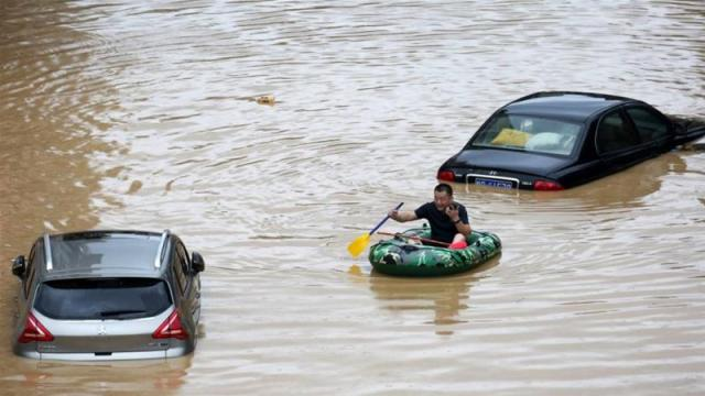 Vice Minister of Emergency Management Zheng Guoguang said on Monday that the Yangtze River and parts of its watershed have seen the second highest rainfall since 1961 over the past six months [Long Linzhi/Xinhua via AP]