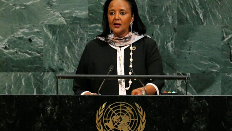Kenya Foreign Minister Amina Chawahir Mohamed is in the running with four others to become the next director-general of the World Trade Organization [File: Lucas Jackson/Reuters]