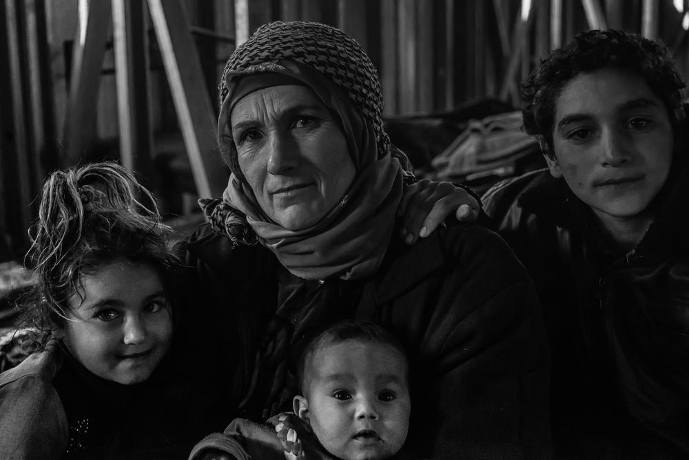This family from rural Damascus came to Jordan via the eastern deserts. They said they left after their neighborhood was subjected to 24-hour shelling.
