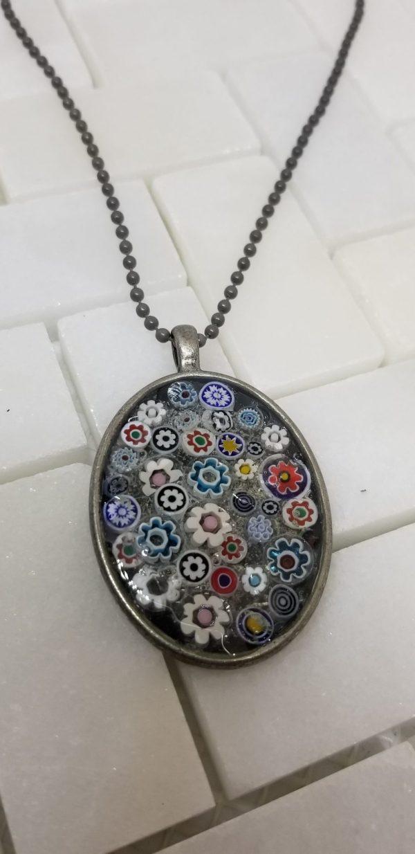 millefiori pendant necklace