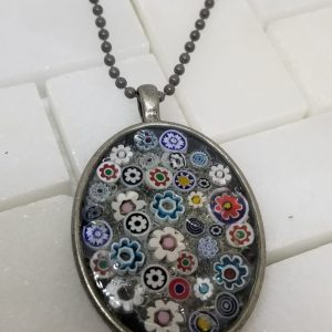 millefiori pendant necklace