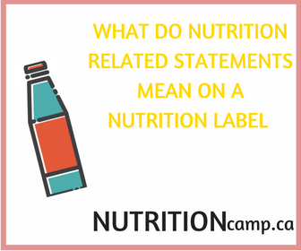 What do the nutrition related statements mean on a nutrition label?